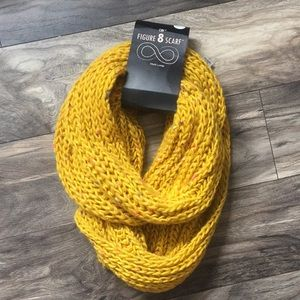Yellow infinity scarf